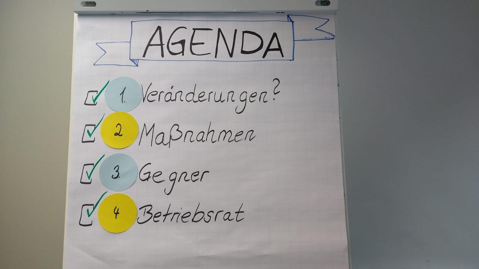Wirtschaftsfachwirt 12 Agenda - Beispiele