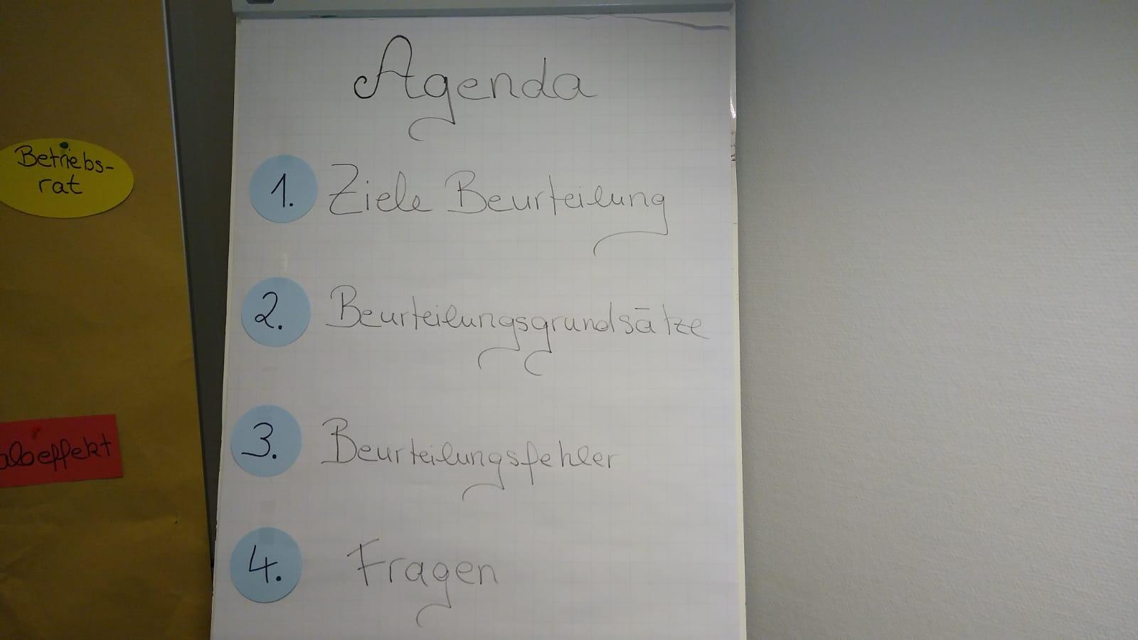 Wirtschaftsfachwirt 14 Agenda - Beispiele