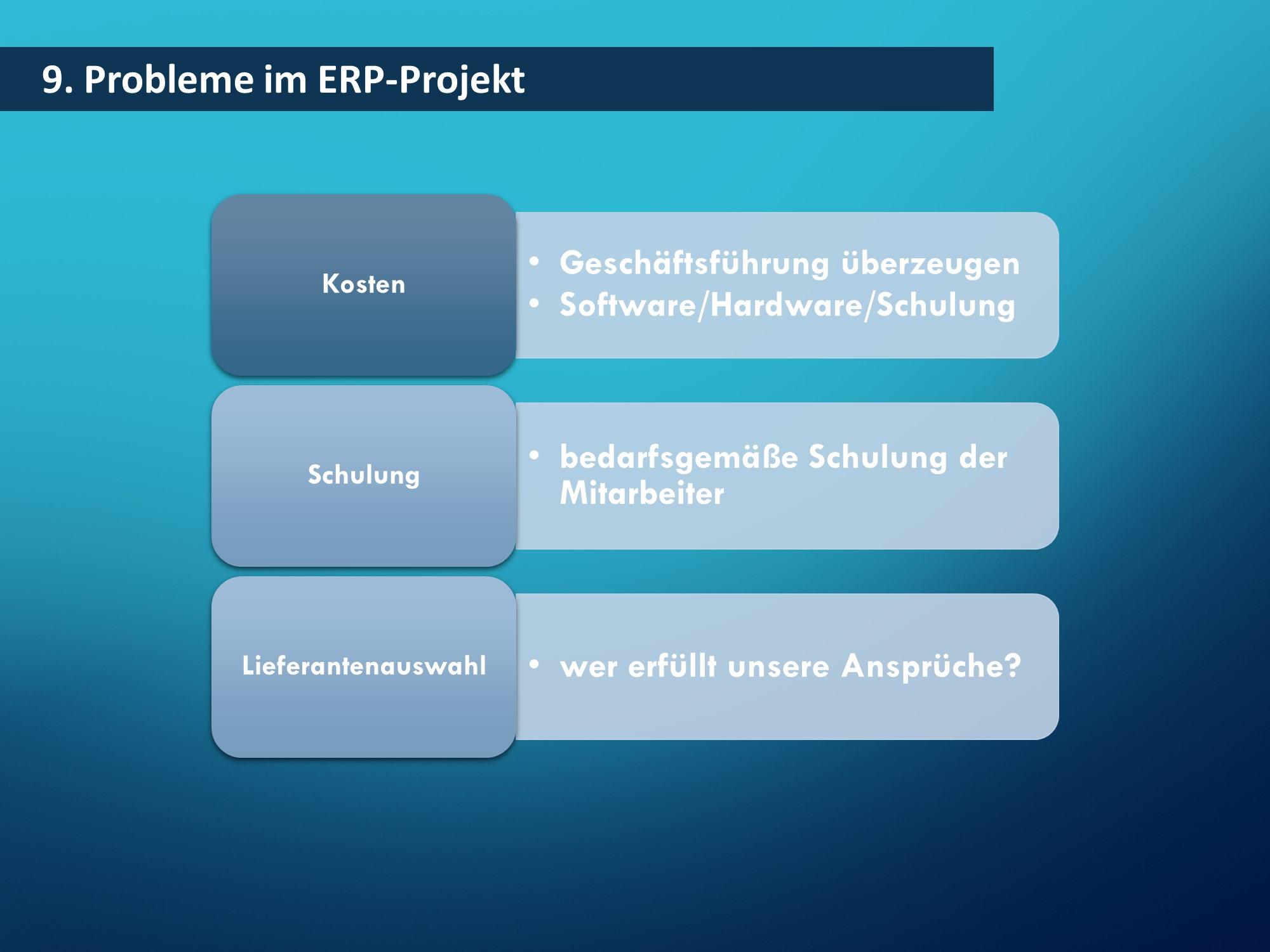 Probleme ERP - Beispielfolien Handelsfachwirt mündliche Prüfung