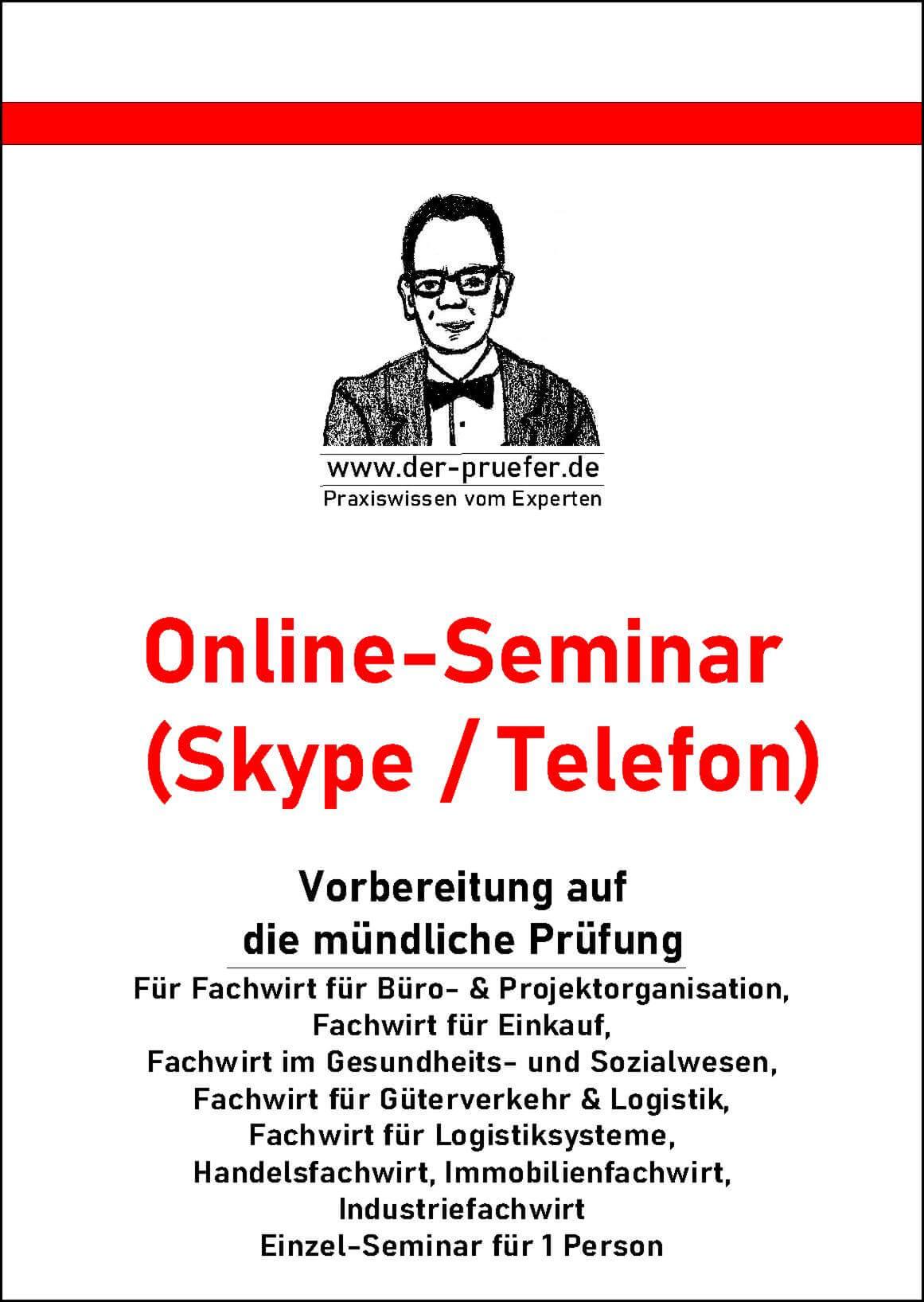 Online Seminar muendliche Pruefung - Industriefachwirt